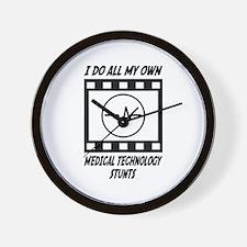 Medical Technology Stunts Wall Clock