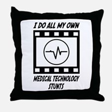 Medical Technology Stunts Throw Pillow