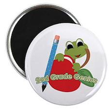 "2nd Grade Genius Frog 2.25"" Magnet (100 pack)"