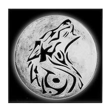 Wolf Moon Tile Coaster