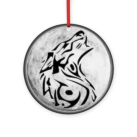 Wolf Moon Ornament (Round)