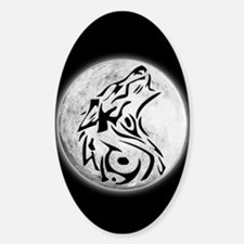 Wolf Moon Oval Decal
