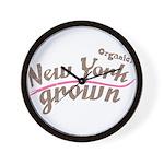 Organic! New York Grown! Wall Clock