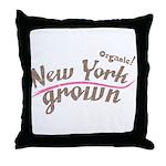 Organic! New York Grown! Throw Pillow