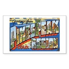 Pikes Peak Colorado CO Rectangle Decal