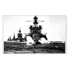 BATTLESHIP USS PENNSYLVANIA Rectangle Decal