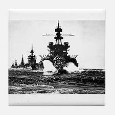 BATTLESHIP USS PENNSYLVANIA Tile Coaster