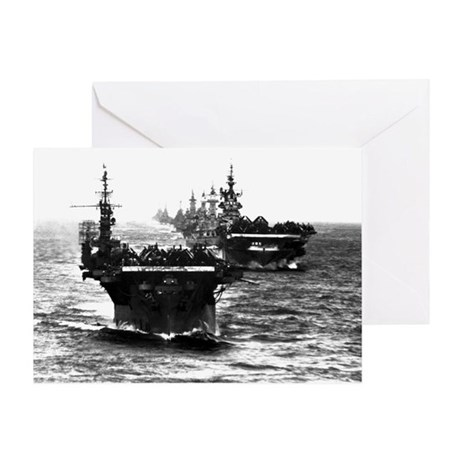 WWII AIRCRAFT CARRIERS Greeting Card