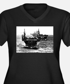 WWII AIRCRAFT CARRIERS Women's Plus Size V-Neck Da