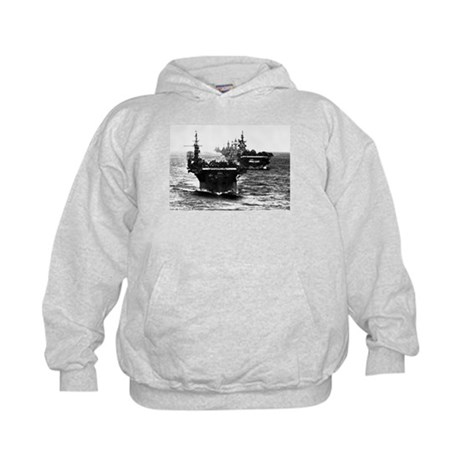 WWII AIRCRAFT CARRIERS Kids Hoodie