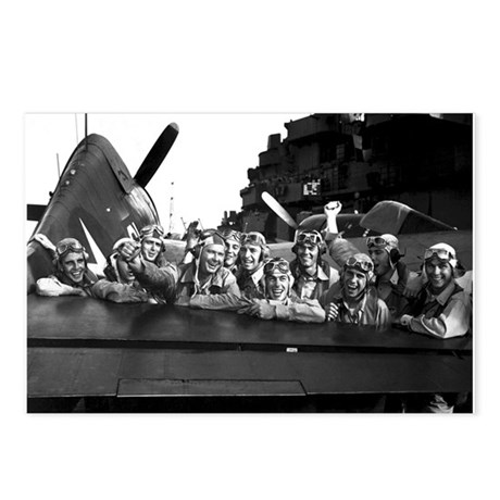 F6F HELLCAT PILOTS Postcards (Package of 8)