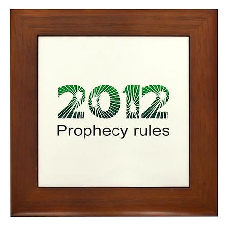 2012 Prophecy Framed Tile