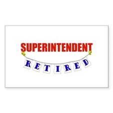 Retired Superintendent Rectangle Decal