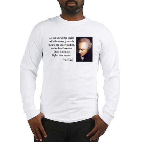 Immanuel Kant 2 Long Sleeve T-Shirt