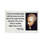Immanuel Kant 2 Rectangle Magnet