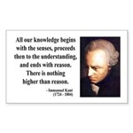 Immanuel Kant 2 Rectangle Sticker