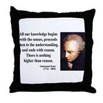 Immanuel Kant 2 Throw Pillow