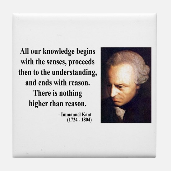 Immanuel Kant 2 Tile Coaster