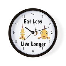 Eat Less Wall Clock