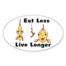Eat Less Oval Decal