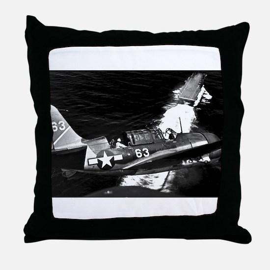 Helldiver Diver Bomber Throw Pillow