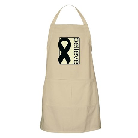 Cream (Believe) Ribbon BBQ Apron