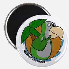 Cartoon Bird Quaker Parrot Magnet
