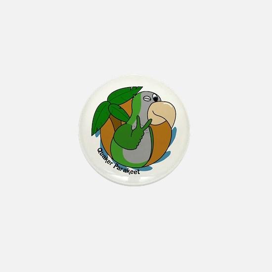 Cartoon Bird Quaker Parrot Mini Button