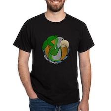Cartoon Bird Quaker Parrot T-Shirt