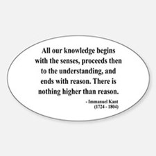 Immanuel Kant 2 Oval Decal