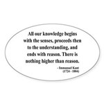 Immanuel Kant 2 Oval Sticker