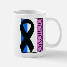 Blue White Pink (Believe) Ribbon Mug