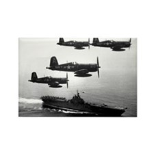 F4U-4 Corsiars Fighters Rectangle Magnet