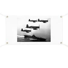 F4U-4 Corsiars Fighters Banner