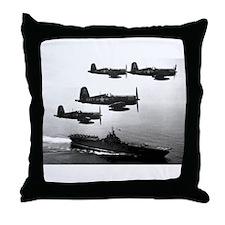 F4U-4 Corsiars Fighters Throw Pillow