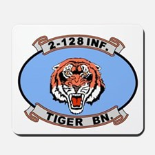 2-128th Infantry <BR>Tiger Mouse Pad