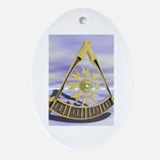 Past Master Oval Ornament