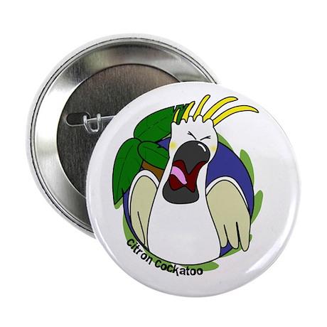 Cartoon Bird Citron Cockatoo Button