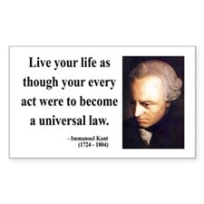Immanuel Kant 3 Rectangle Decal