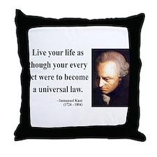 Immanuel Kant 3 Throw Pillow