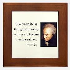 Immanuel Kant 3 Framed Tile