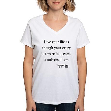Immanuel Kant 3 Women's V-Neck T-Shirt