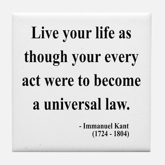 Immanuel Kant 3 Tile Coaster