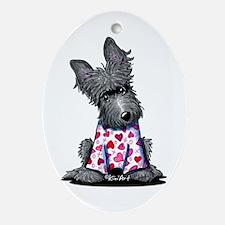 PJs Scottie Terrier Oval Ornament