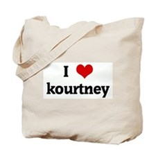I Love kourtney Tote Bag