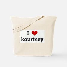 I Love kourtney Tote Bag