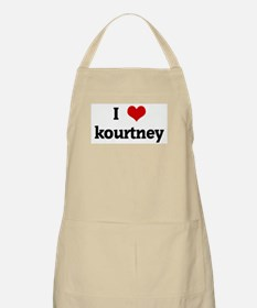 I Love kourtney BBQ Apron