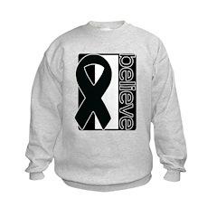 Black White Black (Believe) Ribbon Sweatshirt
