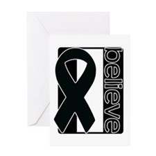Black White Black (Believe) Ribbon Greeting Card