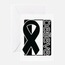Black White Black (Believe) Ribbon Greeting Card